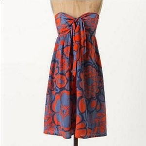 Anthropologie HD In Paris Tied Campanula Dress 12